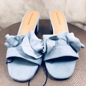 ⚡️Sale Who What Wear Ruffled Heel Sandals